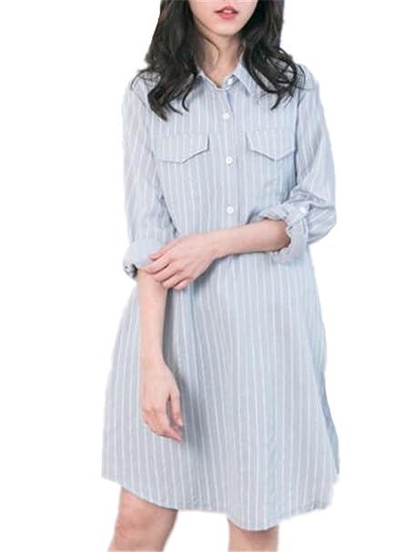 BESTHOO Embarazo Vestido Mujer Camisas Premamá Suelto Vestidos de Media Manga Asimétrico Vestido de Maternidad Blusas