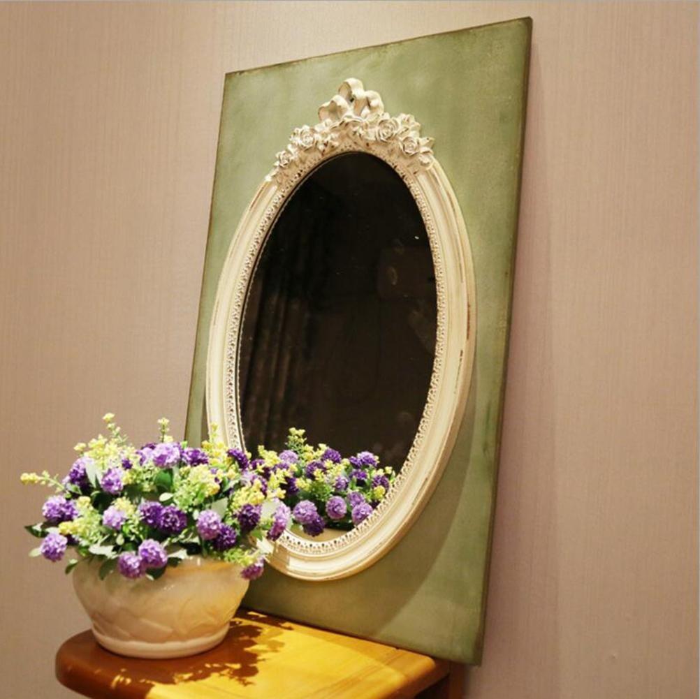 ZXLIFE Miroir de maquillage ® Ancien style européen Miroir de maquillage grand miroir Chambre à coucher suspendue