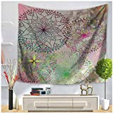 WSHINE Hippie Mandala Tapestry Floral Wall Hanging Bohemian Home Decor Blanket Party Supplies (flower 5, L)