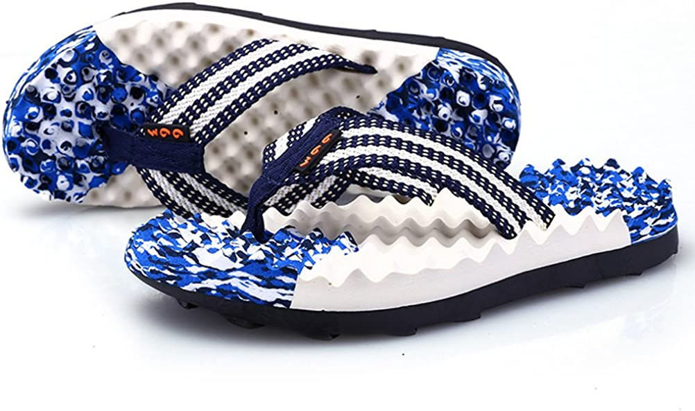 AODEW Mens Flip-Flops Light Weight Thong Sandals Massage Sole Non-Slip Beach Slippers
