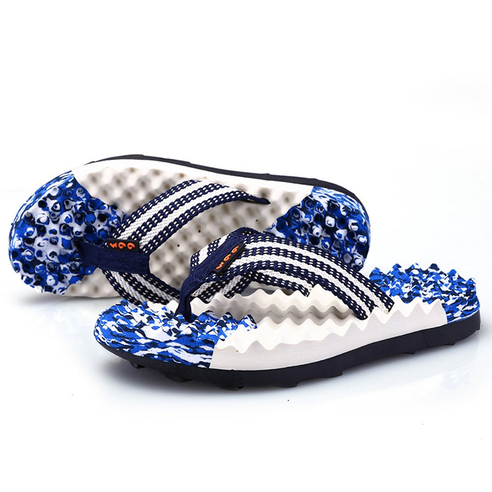 AODEW Men's Flip-Flops Light Weight Thong Sandals Massage Sole Non-Slip Beach Slippers