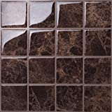 Tic Tac Tiles Anti-mold Peel and Stick Wall Tile in Marmo Marte (10 Tiles)