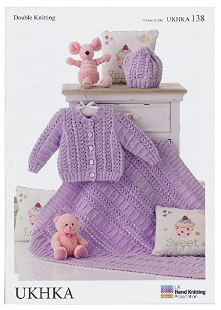 f7be0dffa5d074 Double Knitting Pattern - Matching Baby Cardigan