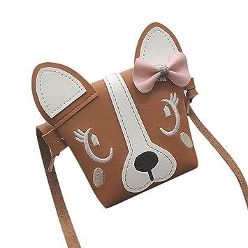 Kinder- & Babytaschen Kinder Handtasche Für Mädchen Bowknot Hund Schulter Tasche Baby Geldbörse Pu Leder Messenger Bag Kid Crossbody Tasche Brieftasche