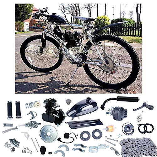 YaeCCC Upgraded 80cc 2 Stroke Motor Engine Kit Gas for Motorized Bicycle Bike Black