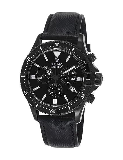 Reloj yema Pro Diver hombre soleillé negro y contadores negros - ymhf1388 - Idea regalo Noel: Amazon.es: Relojes