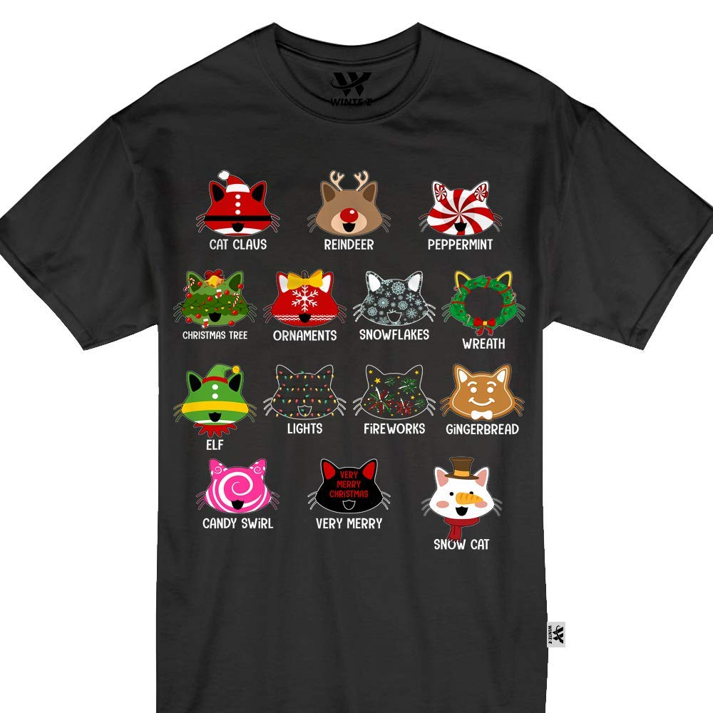 08d43e9ef10e7 Amazon.com: Cat Kitten Christmas Cats Pajamas Matching Tshirt: Clothing