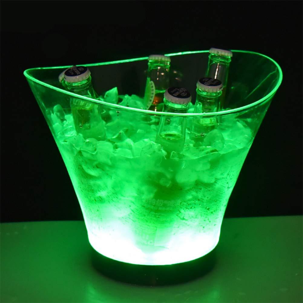 Sektk/ühler//Weink/ühler//Getr/änkek/ühler 6L LED Eisk/übel Gl/ühende,7 Farben f/ür Restaurant Pub Party Supplies Tools Flaschenk/ühler