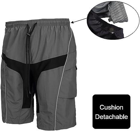 Pantaloncini Da Uomo Ciclismo larghi traspirante elastico in vita Umidità-traspirazione Team Bike
