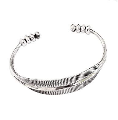 TreasureBay Solid 925 Sterling Silver Thin Bangle Bracelet With Angel Wings Details TBC686 dz5ku3qHFc