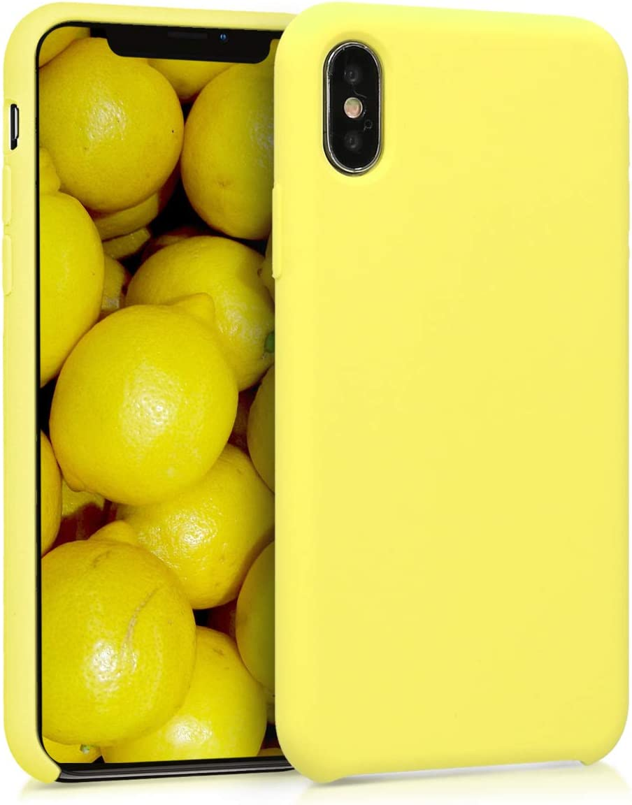 kwmobile TPU Silicone Case Compatible with Apple iPhone X - Soft Flexible Rubber Protective Cover - Pastel Yellow