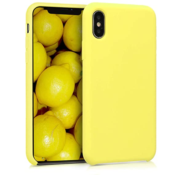 best sneakers 3f52a aab4b kwmobile TPU Silicone Case for Apple iPhone X - Soft Flexible Rubber  Protective Cover - Pastel Yellow