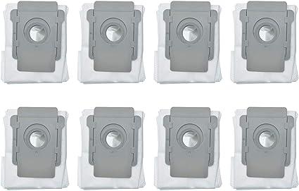 HYB 8 bolsas de vacío compatibles con iRobot Roomba i7 i7+/Plus s9 s9+/Plus aspiradora base automática de eliminación de suciedad: Amazon.es: Hogar