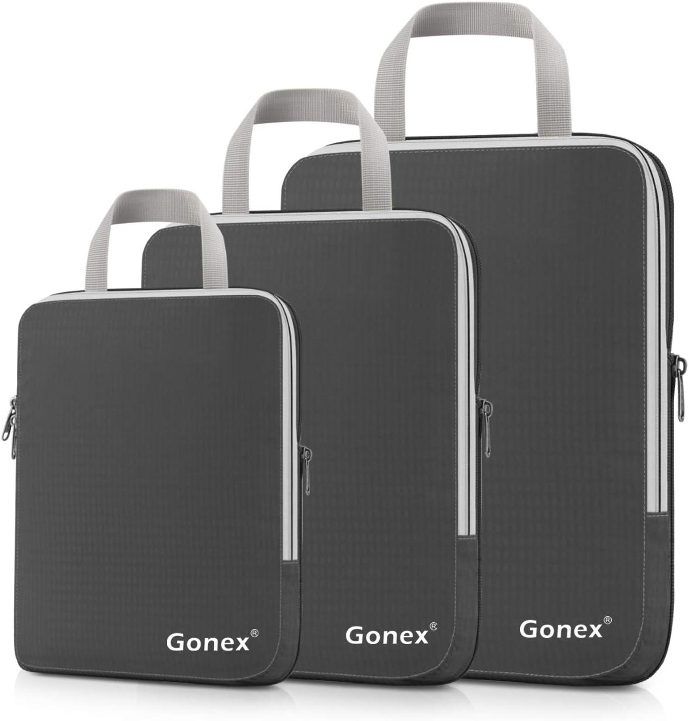5-teilig gro/ße und gr/ö/ßere Packtasche kleine mittelgro/ße schwarz je 1 Beutel Gonex Kleidertaschen-Set
