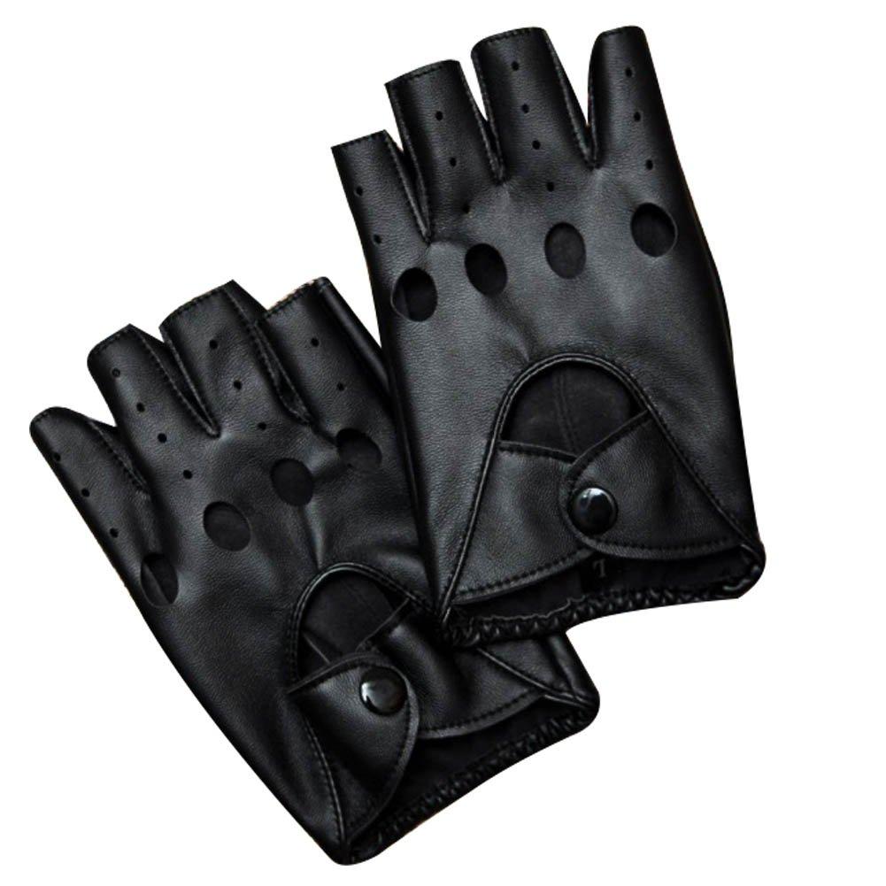Mai Yi Women's Sexy Punk Half Finger PU Leather Performance Gloves