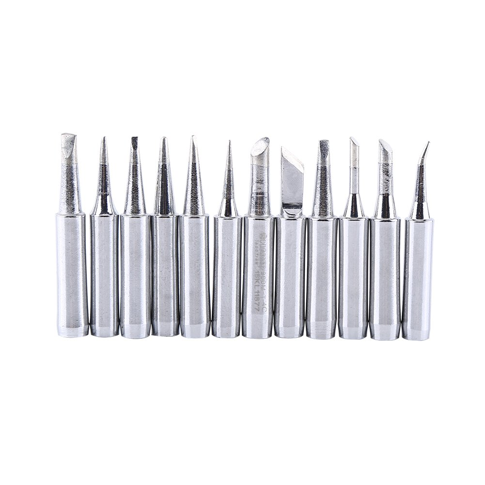Pack of 12 Pcs 900 M-T Lead-Free Soldering Iron Replacement Tips for 936, 937, 938, 969, 8586, 852D Soldering Station Tool Hilitand
