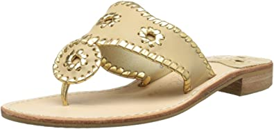 Jack Rogers Womens Nantucket Gold Thong Sandal