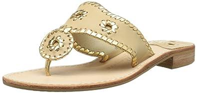 933200b0ab76 Amazon.com | Jack Rogers Women's Nantucket Gold Thong Sandal | Flip ...