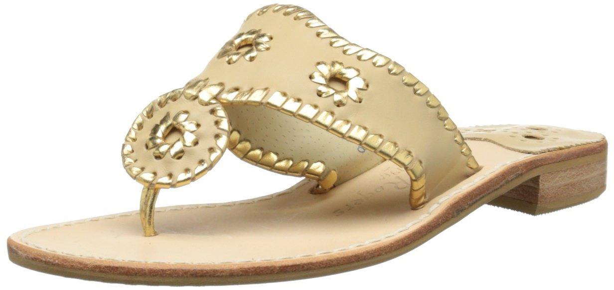 Jack Rogers Women's Nantucket Gold Sandal,Baby Camel/Gold,10 M US