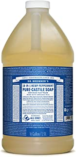 product image for Dr. Bronner's - Pure-Castile Liquid Soap (Peppermint, 64 ounce) - Made with Organic Oils, 18-in-1 Uses: Face, Body, Hair, Laundry, Pets and Dishes, Concentrated, Vegan, Non-GMO