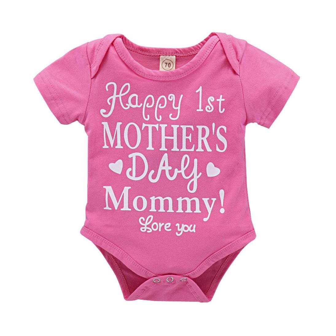 Amazon.com: fartido Pelele bebé niña día de la madre ...