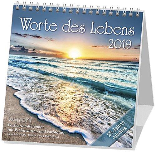 Worte des Lebens 2019: Postkarten-Kalender mit Farbfotos und Psalmworten Sonderausgabe
