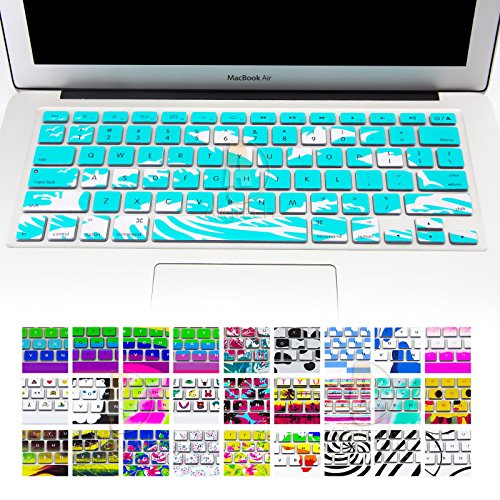Allytech Silicone Keyboard Cover with Pattern Compatible MacBook Pro 13/15 /17 Inch (with/Without Retina Display), iMac and MacBook Air 13 Inch, Dolphin with Oceans Story