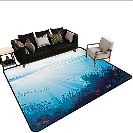Amazoncom Indoor Floor Mat Ocean Design With Fish