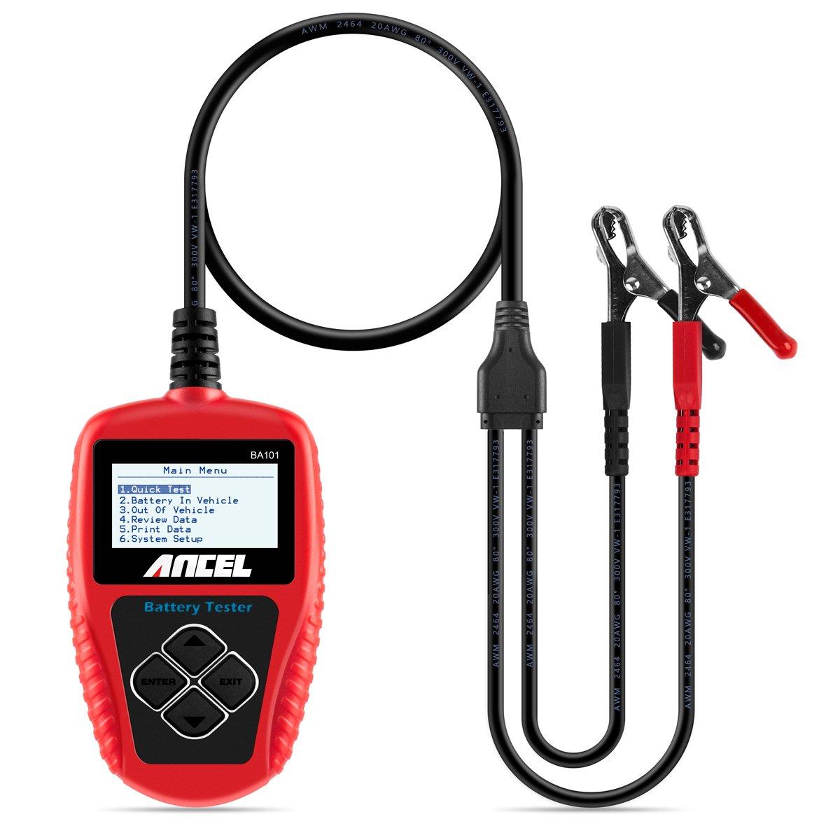 Lingua Italiana Non Garantita ANCEL BST500 Tester Professionale per batterie 12V//24V Camion e Altro Display con Scritte digitali per Auto Manuale utente Moto