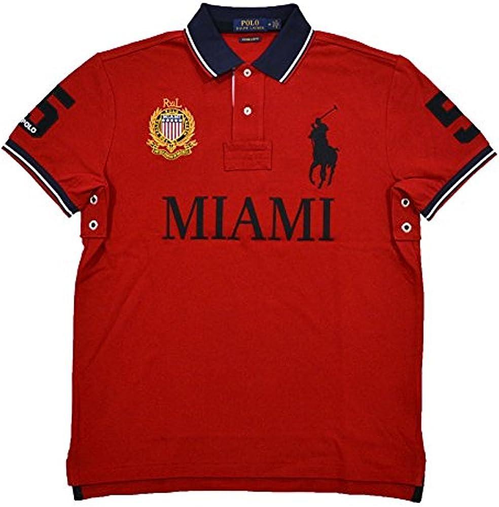 Polo Ralph Lauren - Polo de malla para hombre - Rojo - X-Large: Amazon.es: Ropa y accesorios