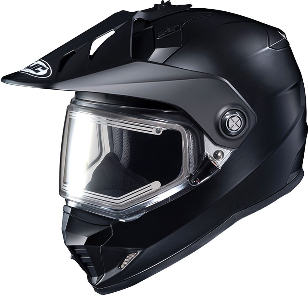 HJC Solid Electric Shield DS-X1 Mens Snow Racing Helmet Matte Black//X-Large
