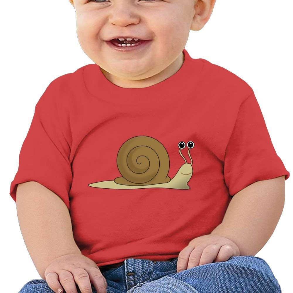 Cute Short Sleeves T Shirt Cute Cartoon Snail Birthday Day Baby Boy Toddler