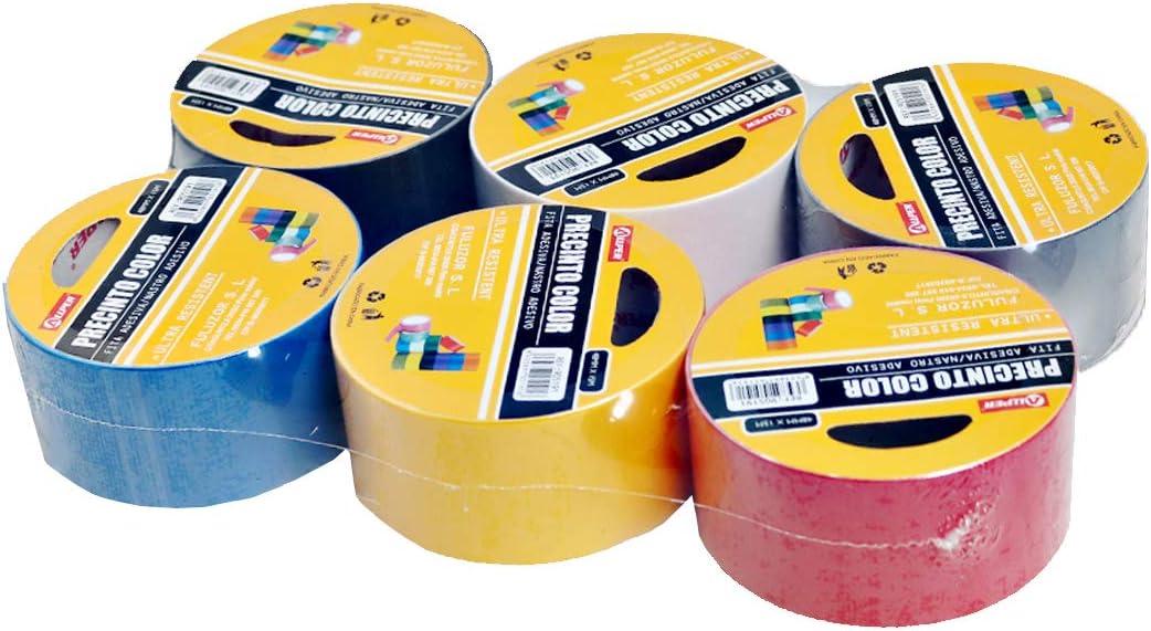 6 colores que se aprecian en la foto Precinto Cinta para embalar Resistente y alta calidad. MEDIDAS: 4,8 cm x 15 m Pack de 6 cintas adhesivas AMERICANAS colores SURTIDOS