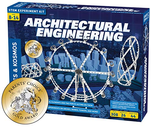 Thames & Kosmos Architectural Engineering | Science Experiment & Model Building Kit | Build 26 Models of Structures & Structural Elements | A Parents' Choice Gold Award Winner