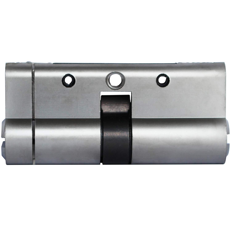 con 5 chiavi standard perforazione e urti antiscivolo manomissioni 60 mm Eurocilindro in ottone con platinatura in nichel Sepox 6 pistoncini antibloccaggio resistente a scasso
