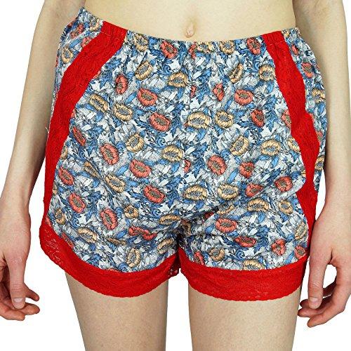 pizzo con insieme Top floreale usura personalizzato con Nigthwear donne pantaloncini 2 Rayon Notte Bimba 2 Progettazione pc di Multicolore wYvqOW6