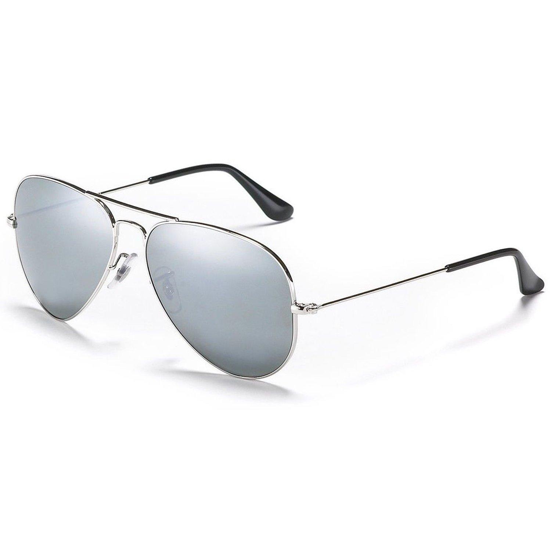 00844f3c25866 MaFs Silver Mercury Aviator Unisex sunglasses (DSC 090)  Amazon.in   Clothing   Accessories
