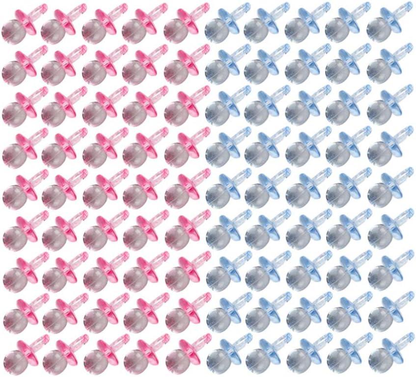 EXCEART 100 Pcs Mini Acrylique B/éb/é Sucettes Table Claire /Éparpiller D/écorations de Confettis pour Gar/çons Et Filles Baby Shower Party Favors