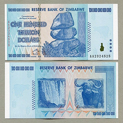 100 Trillion Dollars Zimbabwe, AA /2008 Series, P91 UNC Flawless Crisp, History Rare, Long Time Worth - Suitable For Collector Banknote