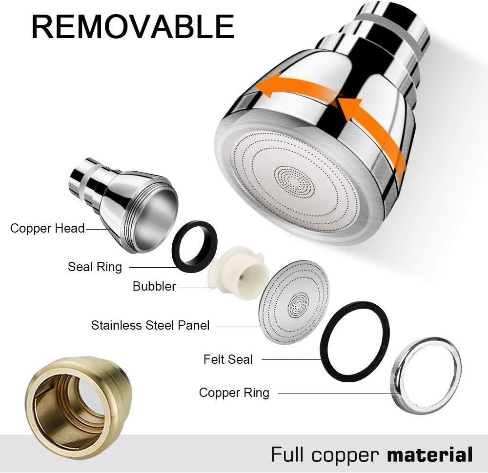 360 grados flexible cabezal de pulverizaci/ón color plateado dispositivo de ampliaci/ón Grifo aireador de grifo con cabezal de pulverizaci/ón