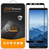 """[2-Pack] Supershieldz for Huawei """"Mate 10 Pro"""" Tempered Glass Screen Protector, [Full Screen Coverage] Anti-Scratch, Bubble Free, Lifetime Replacement Warranty (Black)"""