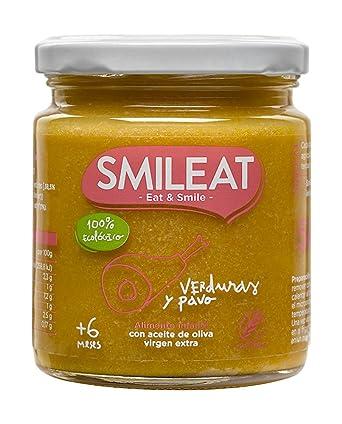 Smileat, Tarrito de carne para bebé, pavo con verduras - 230 gr ...