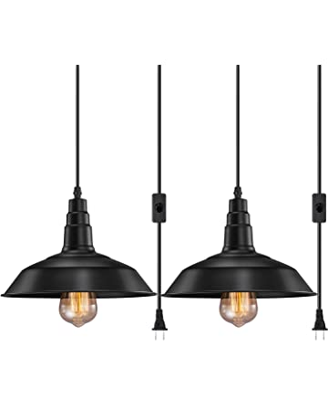 5c3b5ddb223 FadimiKoo Plug in Pendant Light E26 E27 Industrial Hanging Pendant Lights  Vintage Hanging Light Fixture with
