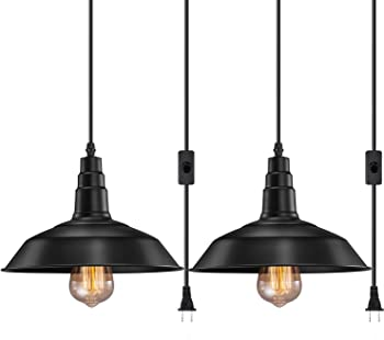 FadimiKoo Plug in Pendant Light