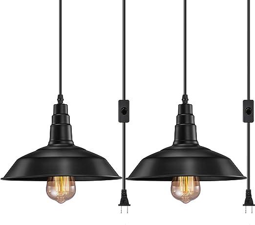 Amazon.com: FadimiKoo Edison - Lámpara de techo colgante de ...