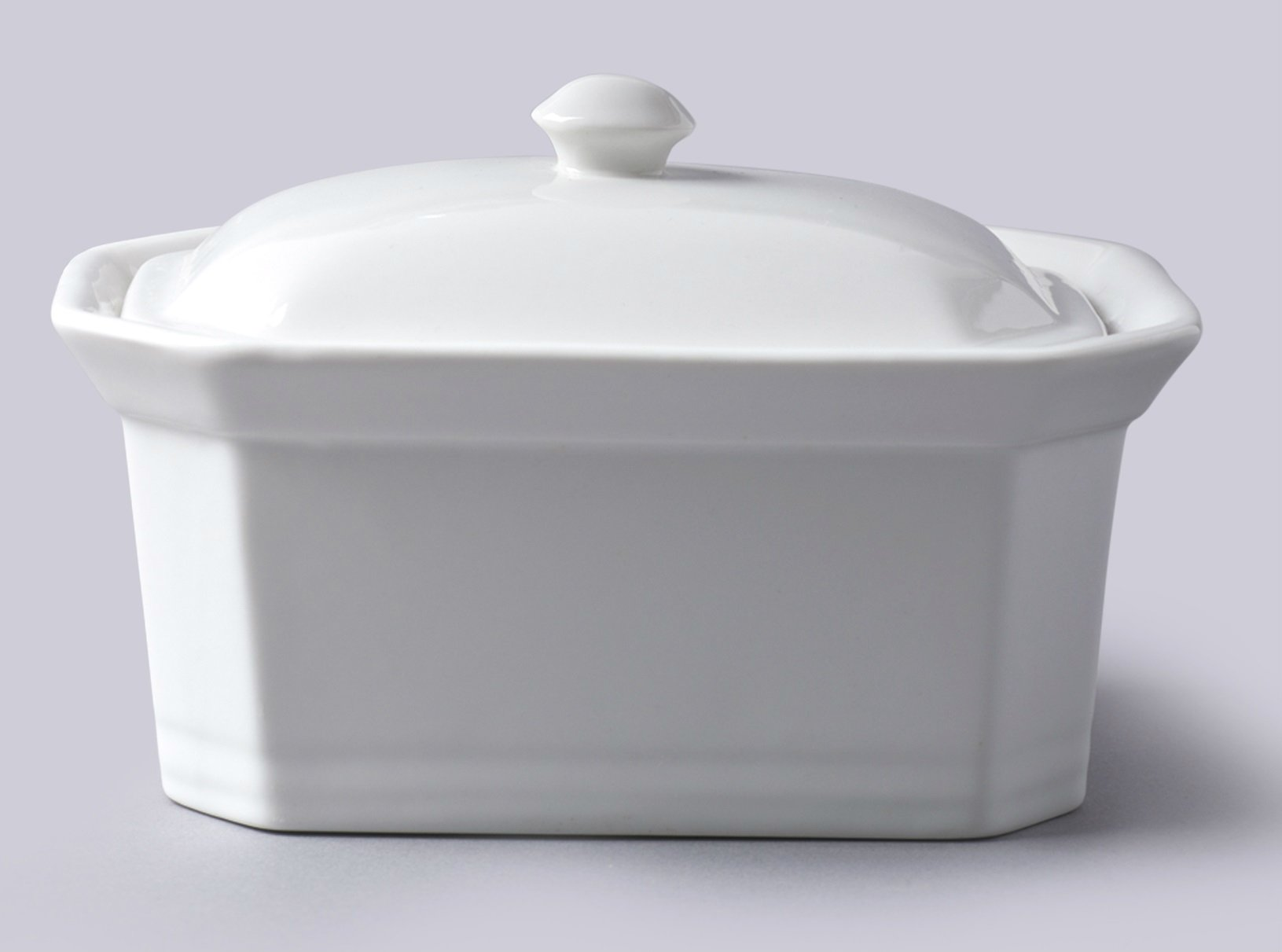 WM Bartleet & Sons 1750 T184 Butter/Terrine Dish with Lid, White by WM Bartleet & Sons 1750