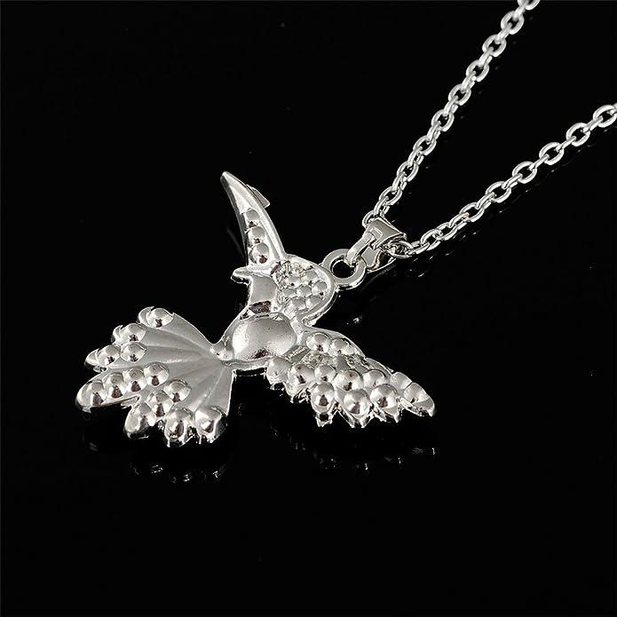 Lemegeton Adorable Pendentif Colibri Cristal Collier pour Femmes Filles Animal Cadeau Bijoux