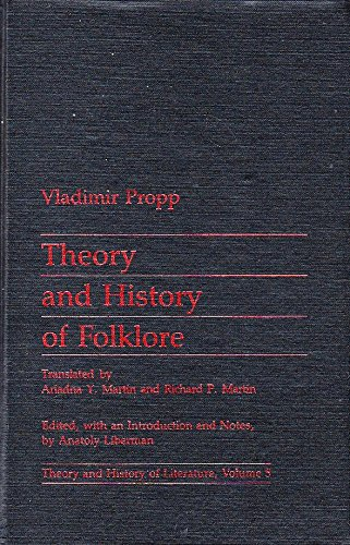Theory and History of Folklore (Theory & History of Literature)