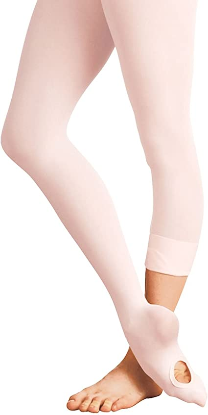 WEWINK PLUS Ballet Tights For Girls Kids 3 Pairs Convertible Ballet Dance Tights Children Ultra Soft Footed Tights