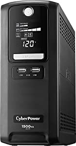 CyberPower 890 J 6 ft. L 10 outlets PC Battery Backup